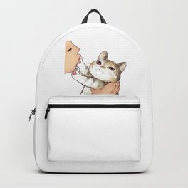 Kiss cute cat 2 Backpack