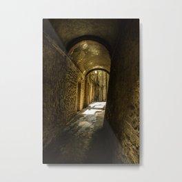 Stone alley of the middle evo era. Metal Print