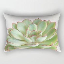 Green Succulent Rectangular Pillow