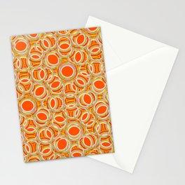 Orange Overlapping Circles Stationery Cards