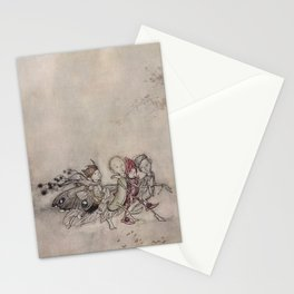 """Midsummer Fairies"" by Arthur Rackham Stationery Cards"