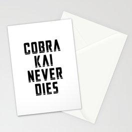 Cobra Kai Never Dies - Black Stationery Cards