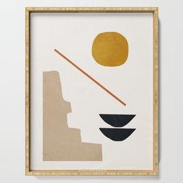 abstract minimal 6 Serving Tray