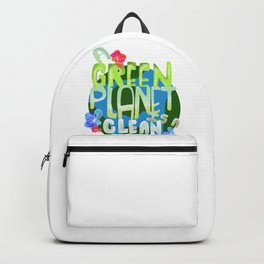 Environmentalist Gift A Green Planet is a Clean Planet Backpack