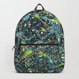 Galaxy Splatter Paint Art Backpack