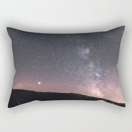 Mars and the Milky Way | Nature and Landscape Photography Rectangular Pillow