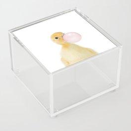 Bubble Gum Ducky Acrylic Box