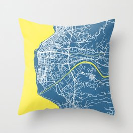 REGGIO CALABRIA Map - Italia | Blue | More Colors, Review My Collections Throw Pillow