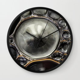 Onyx & Silver Bubble Abstract Wall Clock