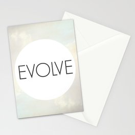 Evolve - One Word Stationery Cards