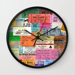 I miss concerts - ticket stubs Wall Clock
