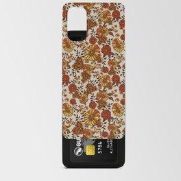 Retro 70s boho hippie orange flower power Android Card Case