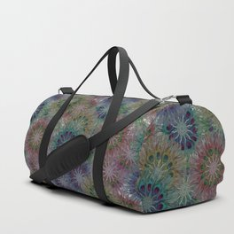 Peacock Feather: Many Mandalas Duffle Bag