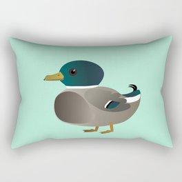 Cute male mallard Rectangular Pillow
