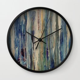 Abstract Forest at Sunset Wall Clock