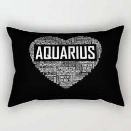 Aquarius - Heart Rectangular Pillow