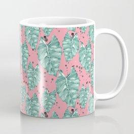 Watercolor tropical leaves pattern Coffee Mug