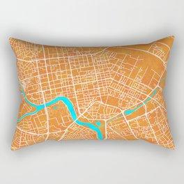 Astana, Kazakhstan, Gold, Blue, City, Map Rectangular Pillow