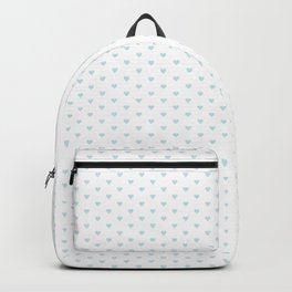 Small Baby Blue heart pattern Backpack