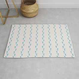 Bouncing Water Droplets - White Rug