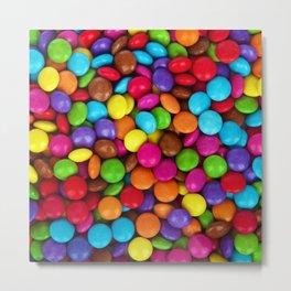 Candy Coated Chocolate Metal Print