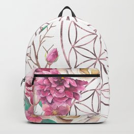 Flower of Life Rose Gold Garden Backpack