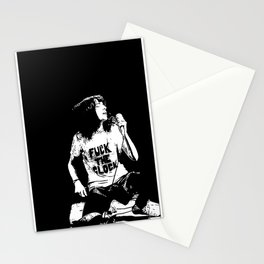 PATTI SMITH fuck the clock Stationery Cards