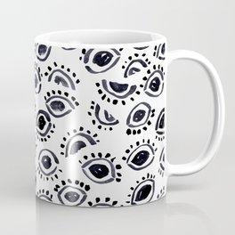 Mystic Eyes in Monochrome Coffee Mug