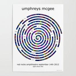 Umphrey's McGee Red Rocks 2012 Spiral Art Poster