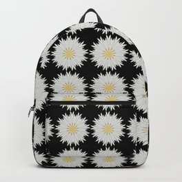 Daisy Abstract Repeat Dot Pattern  Backpack