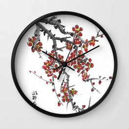 Cherry Blossom Two Wall Clock