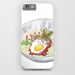 Watercolor Illustration of a Cuisine - Korean Bibimbap | 韩式拌饭 iPhone Case