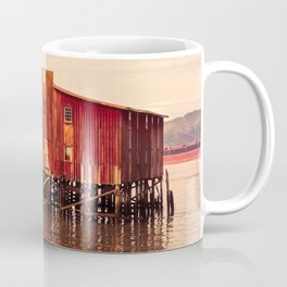 Old Red Net Shed, Building on Pier, Columbia River, Astoria Oregon Coffee Mug