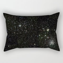 Space - Stars - Starry Night - Black - Universe - Deep Space Rectangular Pillow