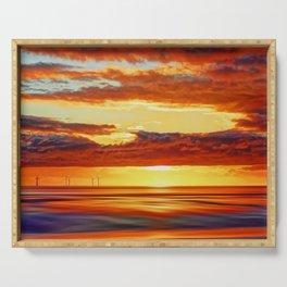 Irish Sea Sunset Serving Tray