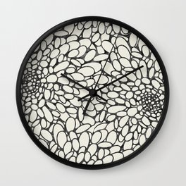 Abstract pattern in neutral colors Wall Clock
