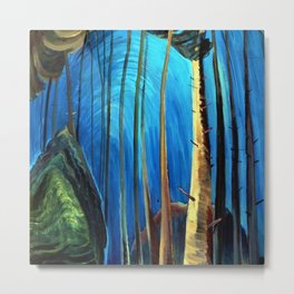Big Sky Country, Forest Morning Blue portrait painting by Emily Carr Metal Print