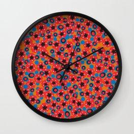 Hendrix 12 String 1960s Blazer Pattern Wall Clock