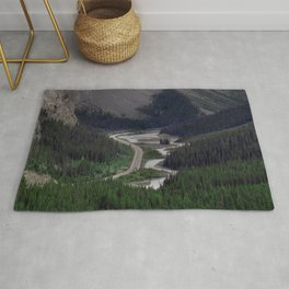 Awesome Kicking Horse Pass, Canadian Rockies Rug