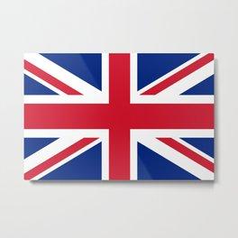 UK FLAG - Union Jack Authentic Metal Print