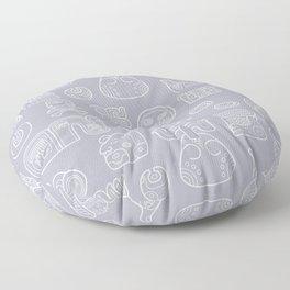 Picto-glyphs Story Floor Pillow