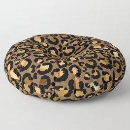 Leopard Metal Glamour Skin Floor Pillow