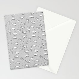Mutants animals pattern Stationery Cards