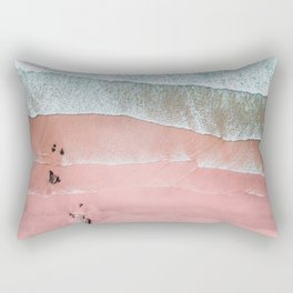 Beach Wall Art, Pink Beach Print, Aerial Beach Photography, Aerial Beach, Bondi Beach, Coastal Print Rectangular Pillow