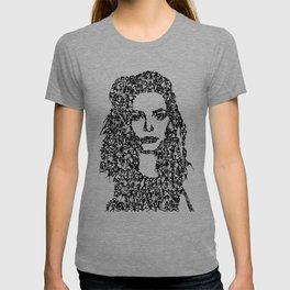 Kanji Calligraphy Art :woman's face#10 T-shirt