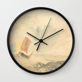 """J.M.W. Turner """"A Sea Piece - A Rough Sea With A Fishing Boat"""" Wall Clock"""