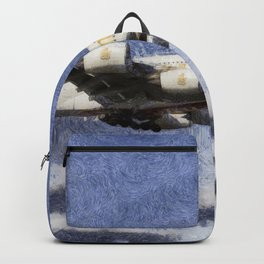 Emirates A380 Airbus Art Backpack
