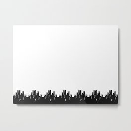 Black Cityscape Skyline Metal Print