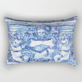 Ángeles Azules Rectangular Pillow