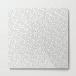 Tilting Diamonds in Grey Metal Print